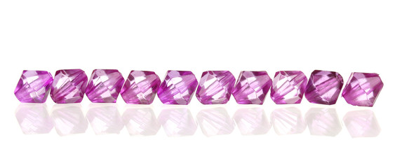 Gem stones isolated on white