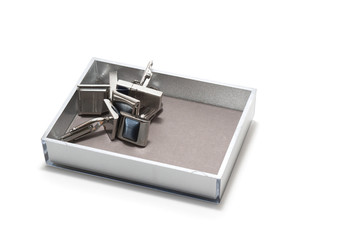 Tidy sundries tray vide-poche with cufflinks inside