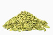 Cardamom seeds isolated on white background