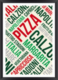 Pizza words cloud poster