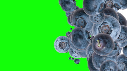 Falling Blueberries (with Alpha Channel)