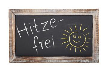 Schultafel - Hitzefrei - Freisteller