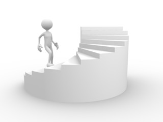 3d men stairs