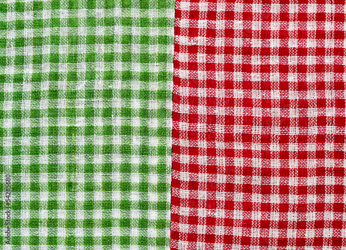 Red and Green checkered background.