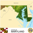 Maryland USA counties name location map background