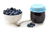 Blueberries and jam
