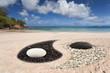 plage yin yang aux Seychelles, anse Louis, Mahé