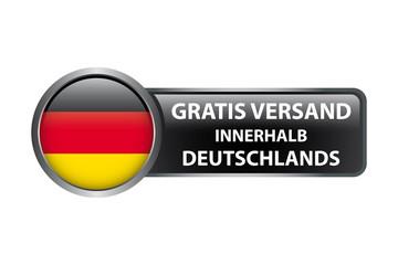 Gratis Versand innherhalb Deutschlands - Button