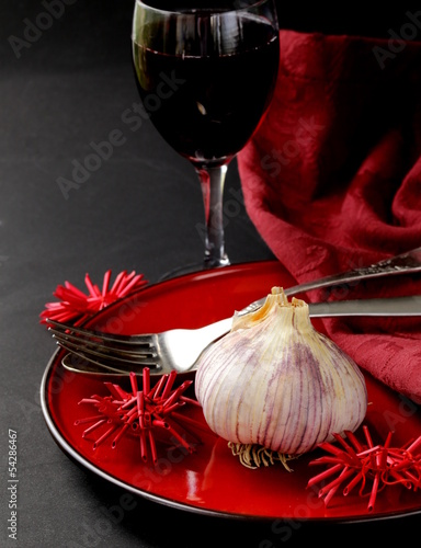 stylistic table setting for a holiday Halloween