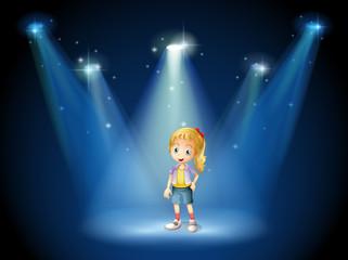 A girl under the spotlights