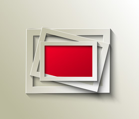 Abstract 3D Photo Frame Design