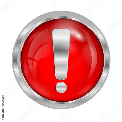 sign of danger of red color on a white background