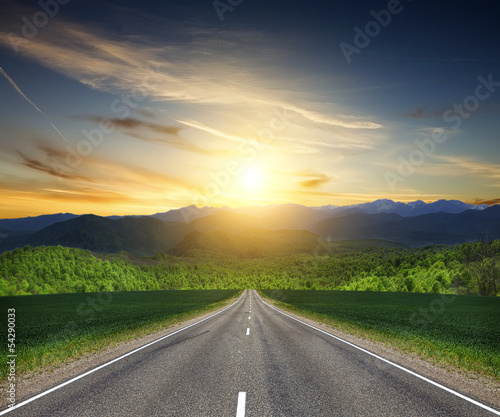 road in mountain.