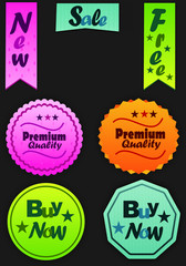 Color vector sales labels