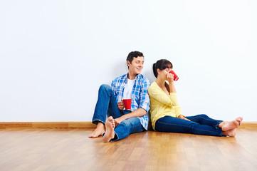 new apartment couple