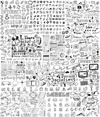 Huge set of hand drawn elements