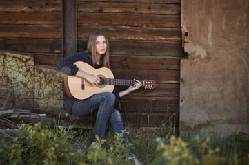 Girl guitarist