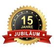 Button mit Banner - Jubiläum 15 Jahre