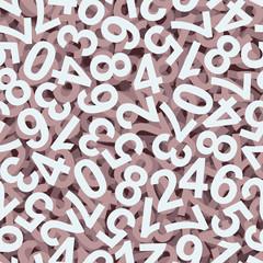 Zahlen Hintergrund bunt - endlos