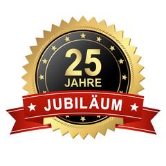 Button mit Banner - Jubiläum 25 Jahre