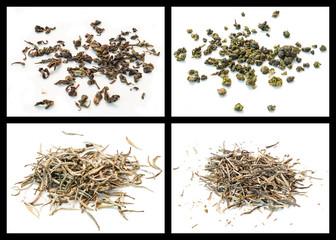 Oolong tea and white tea
