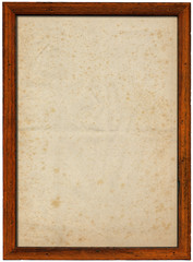 Wooden Frame with Spotted Paper