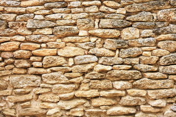 Stone wall in the south of France