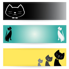 Vector image of an cat banners