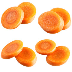 carrot slices. With clipping path