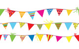Seamless pattern with bunting flags for kids