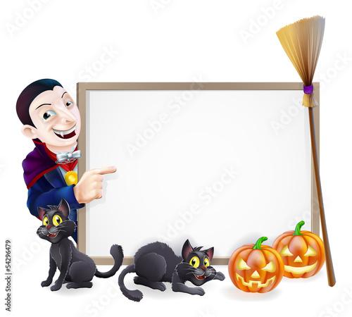 Halloween Dracula Sign