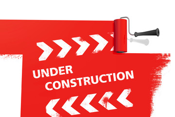 Under Construction - Farbrolle Rot