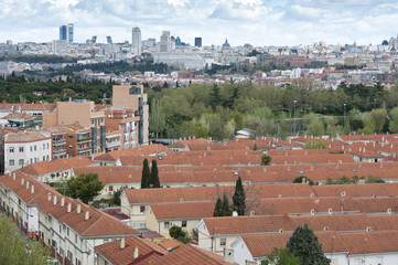 Views of Madrid City from Carabanchel district