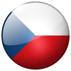 Czech Republic Round Glass realistic Button