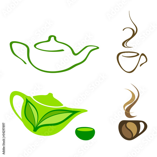 Tea and coffee icons