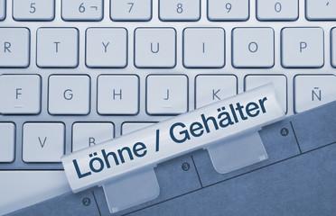 Löhne / Gehälter Tastatur