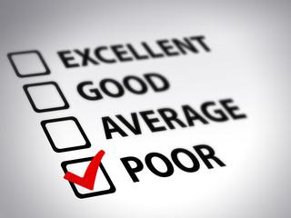 questionnaire - poor