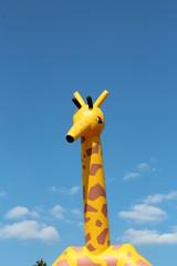 Giraffe als aufgeblasene Figur
