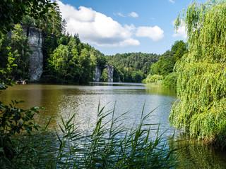 Vezak lake in Bohemian Paradise