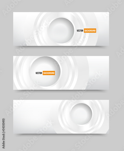 Vector Illustration With 3d circles banners