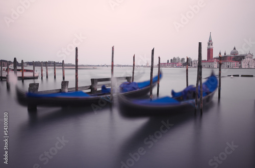 Gondolas on the waves
