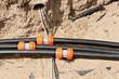 Leinwanddruck Bild - Kabelschutzrohr - Leerrohr mit Verbindungsmuffe