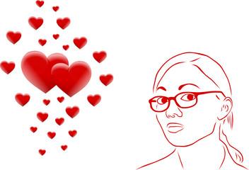 kobieta i serca