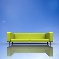Sofa with nice background