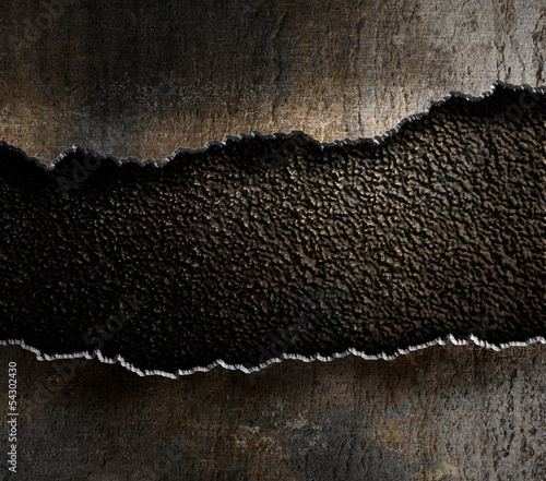 damaged metal torn edges background