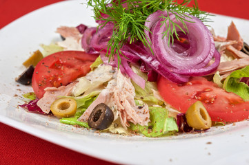 chicken meat filet salad