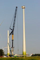 Construction of a new windturbine, Holland