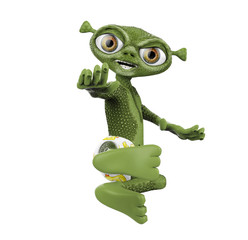 alien from mars karate jump front