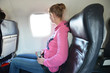 Girl in the airplane