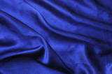 Blue silk drape